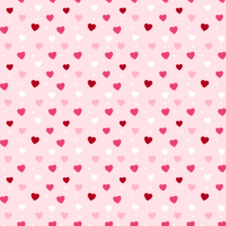 Cute hearts seamless pattern design for valentines day or feminine designs