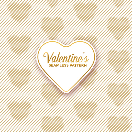 Seamless line pattern shaping hearts - geometric valentines day background design Ilustracja