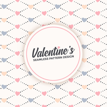 Cute seamless pattern design for valentines day