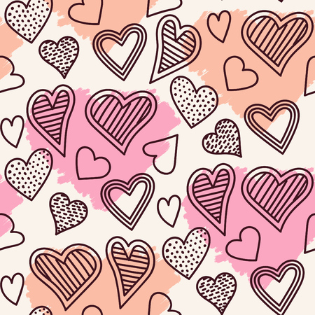 Cute seamless heart pattern design