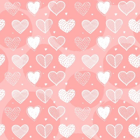 Cute seamless heart pattern design for valentines day