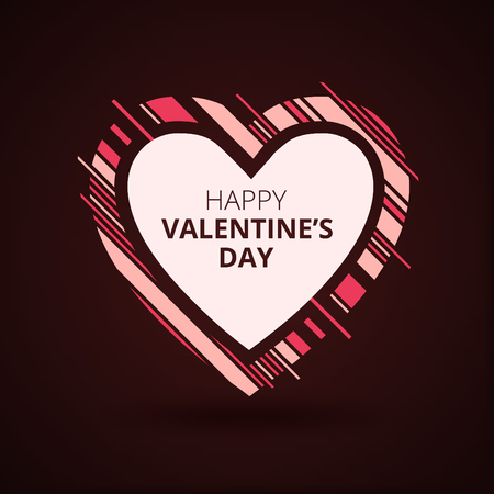 Dynamic heart frame design - modern valentine's day greeting card design