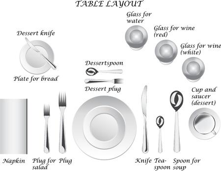 Table layout Illustration