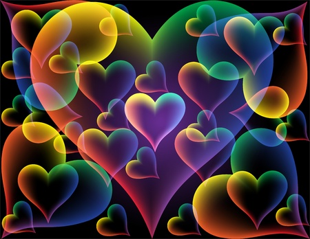Abstract background from hearts