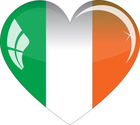 The Irish flag - glass heart Stock Vector - 12788530