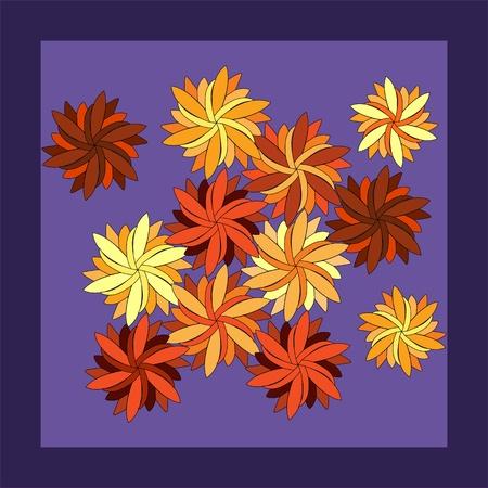 autumn flowers: Autumn flowers - a card