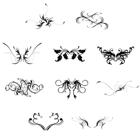 Vintage style decorative design elements vector Stock Vector - 12788560