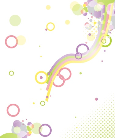 Abstract vector background - spring, color imagination