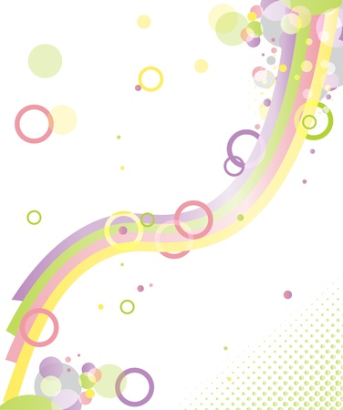 Abstract vector background - color imagination
