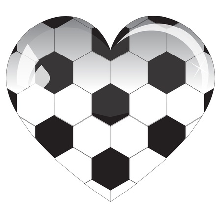 glass heart football Vector