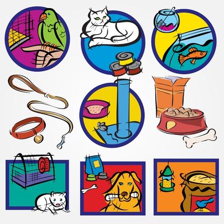 Stel Icoon voor huisdieren-shop