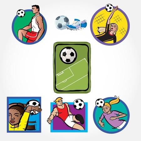 Soccer Set Icon Stock Vector - 13204915