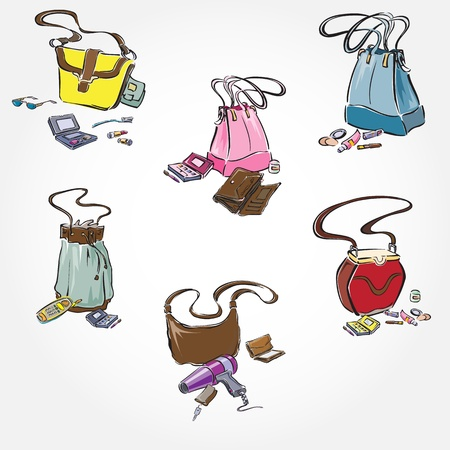 Woman Bags Set Stock Vector - 13262786