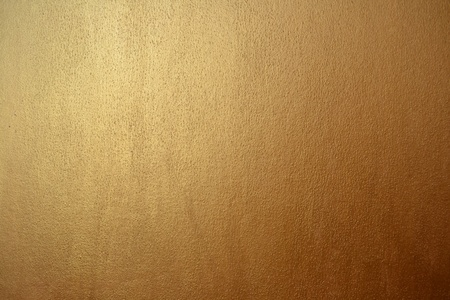 gold acrylic paint on a cardboard