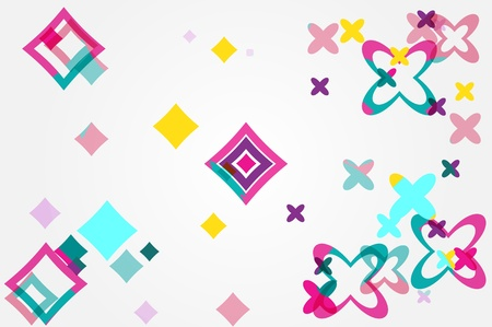 Color  abstract background pink rhombus