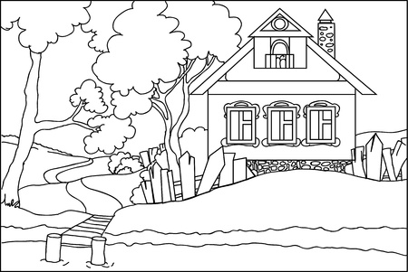 Color book - the old house at the river