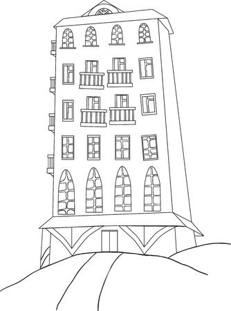gherkin building: city skyscraper Color book