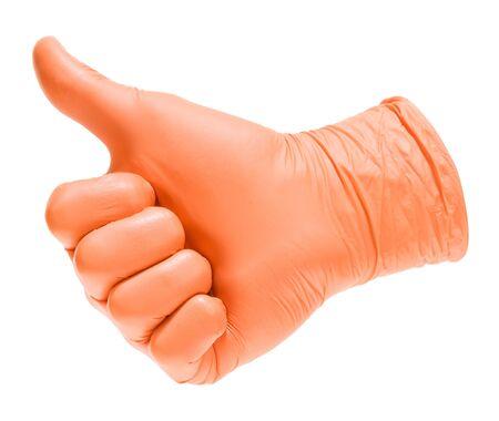 Doctors hand. Thumb up Stock fotó