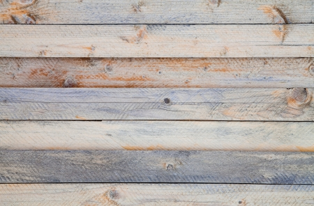A wall of pine boards, placed horizontally Stock Photo