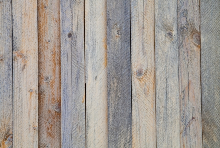 A wall of pine planks, placed vertically Stock Photo