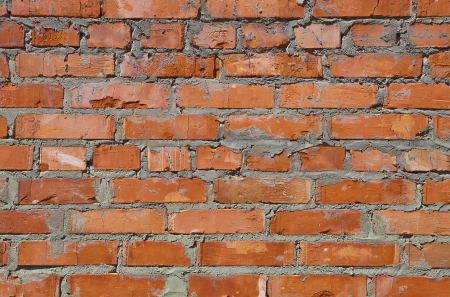 A fragment of red brick walls Stock Photo
