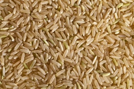 unpolished: Unpolished rice grains, photographed close up Stock Photo
