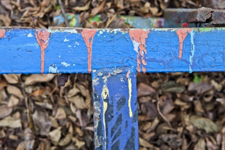 metal structure: Fragment of a metal structure covered with old paint