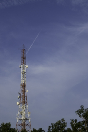 communication antenna sky tower photo