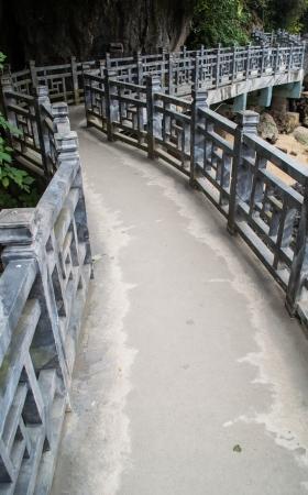 Concrete bridge to Harbor photo