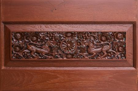 door carving ,Thailand photo