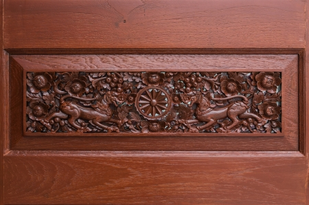 recessed: door carving ,Thailand