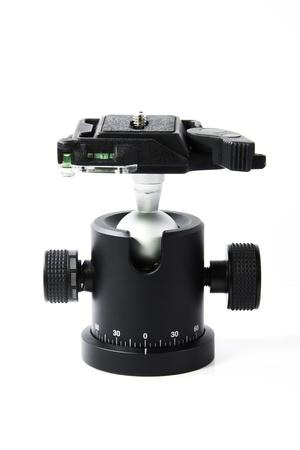 tiny lenses: Ballhead tripod isolated on white background