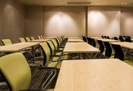 Interior of modern conference room photo
