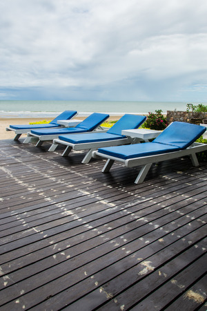 Chairs on wood floor with Sea View photo