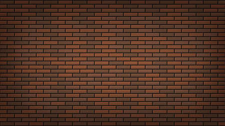 Dark brown brick wall vector illustration