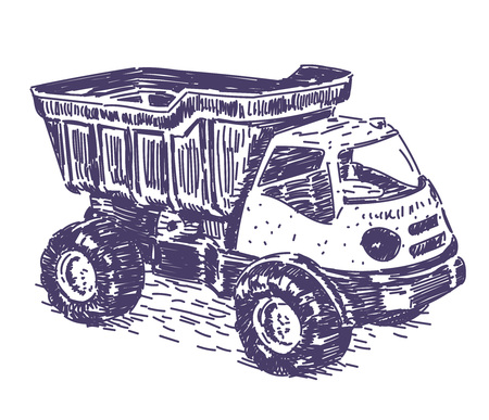 Toy truck vector drawing