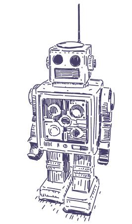 Robot vector hand drawn 일러스트