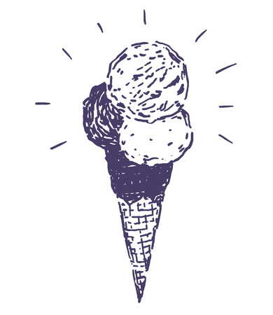 Ice cream hand drawn 일러스트