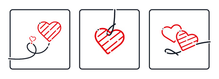 textspace: Heart, Valentines Day. Mothers Day, Birthday, Christmas Ornament, Vector. Love symbol isolated on white background