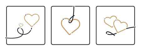 textfield: Heart, Valentines Day. Mothers Day, Birthday, Christmas Ornament, Vector. Love symbol isolated on white background