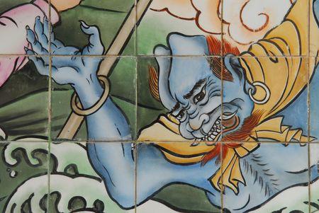 painting wall: pintura mural