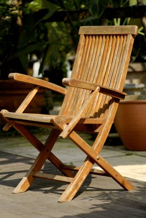 silla de madera: silla de madera