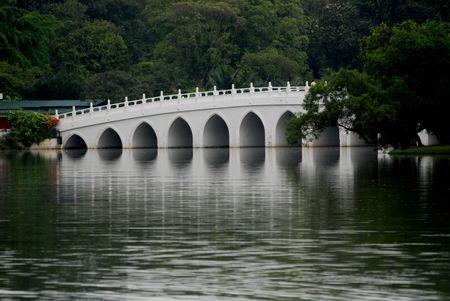 statuary garden: white bridge and lakes