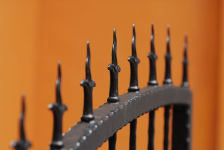 iron gates Stock Photo