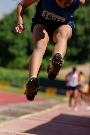 lange springen helpen bij het sportcentrum