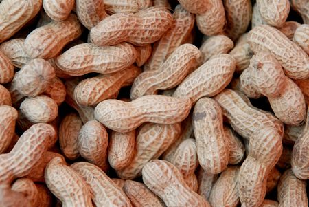 dried peanuts  selling at the foods store