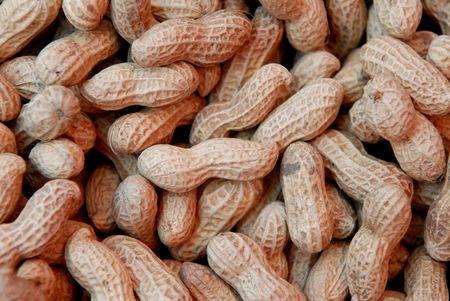 gedroogde pinda's verkopen op de levensmiddelen winkel