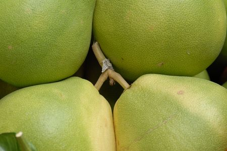 green pomelo at the fruit store  photo