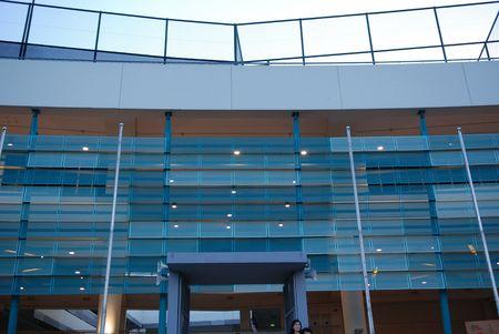 building external: modern building and walls of a school external