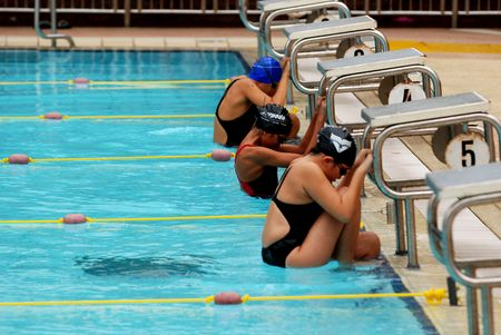 swimming competition help at the sport center